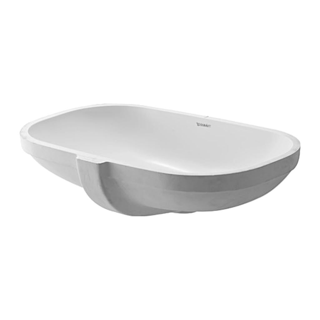 D-CODE Duravit D-Code - Vstavané umývadlo, hladké, 495 x 290 mm, biele 0338490000