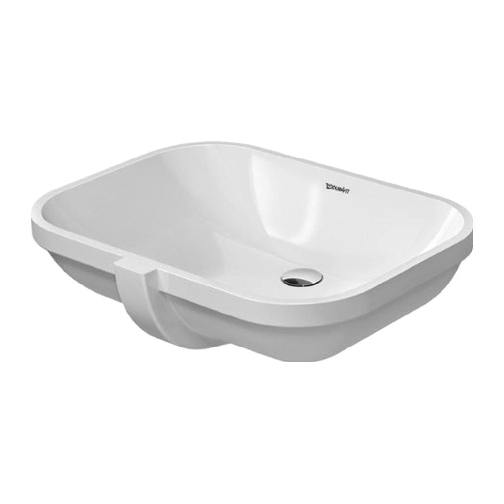 Duravit D-Code - Vstavané umývadlo, bez otvoru pre armatúru, 56 x 40 cm, biele 0338560000