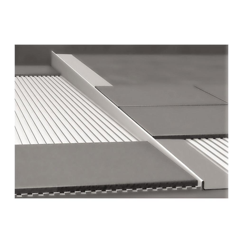 NEREZOVé SPRCHOVé žľABY Nerezová lišta pre vyspádovanie podlahy, hrúbka 12 mm, dĺžka 1000 mm, pravá