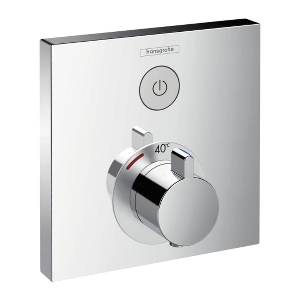 SHOWERSELECT, TERMOSTATICKé BATéRIE POD OMIETKU Hansgrohe ShowerSelect - Termostat pod omietku pre 1 spotrebič,chróm 15762000