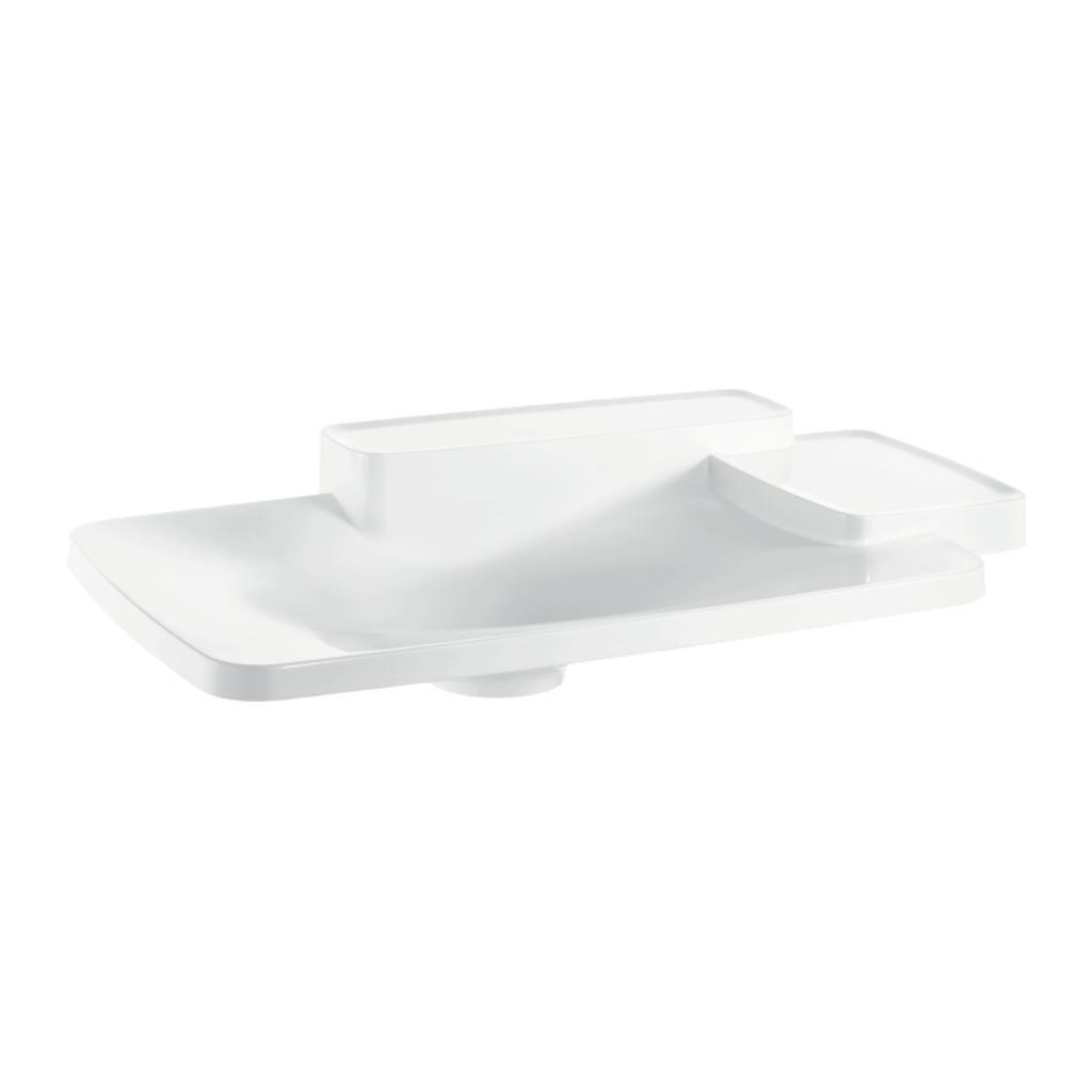AXOR UMÝVADLÁ A VANE Axor Bouroullec - Vstavané umývadlo 866 x 530 mm s 2 poličkami, alpská biela 19943000