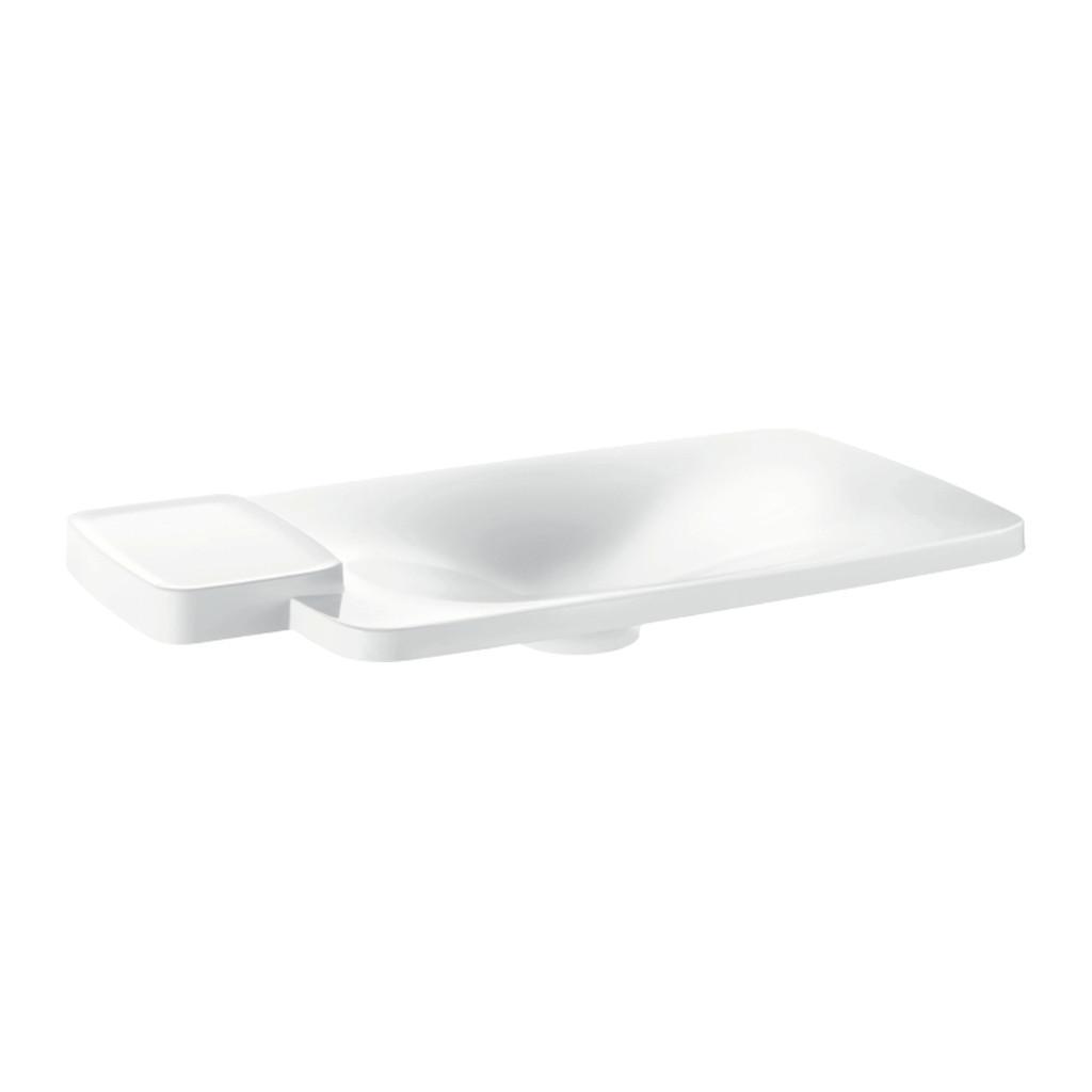 AXOR UMÝVADLÁ A VANE Axor Bouroullec - Vstavané umývadlo 866 x 466 mm s 1 poličkou, alpská biela 19945000