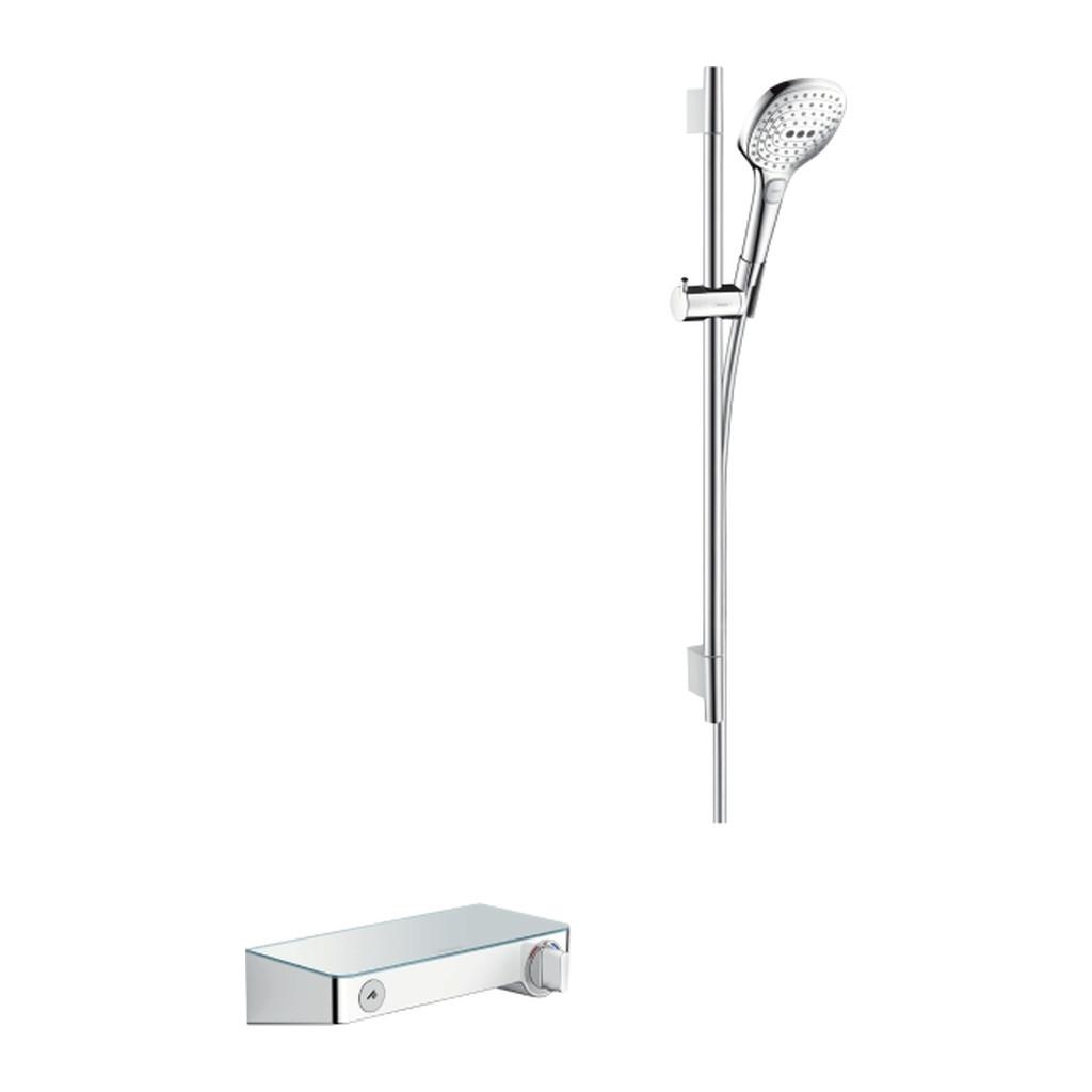 SELECT, TERMOSTATICKé BATéRIE NA STENU Hansgrohe ShowerTablet Select - termostatická batéria + sprchová súprava, biela-chróm 27026400