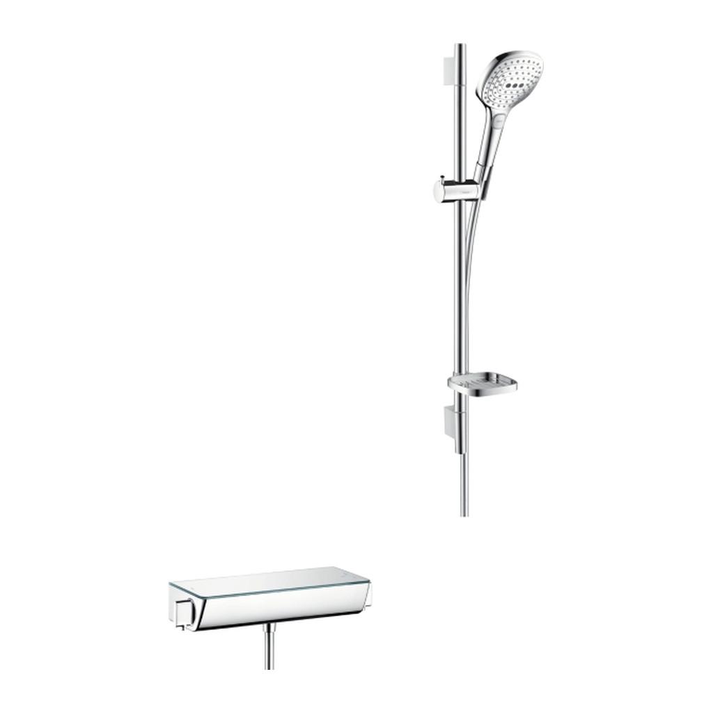 SELECT, TERMOSTATICKé BATéRIE NA STENU Hansgrohe Raindance Select E - termostatická batéria a sprchová súprava v kombinácii, biela-chróm 27038400