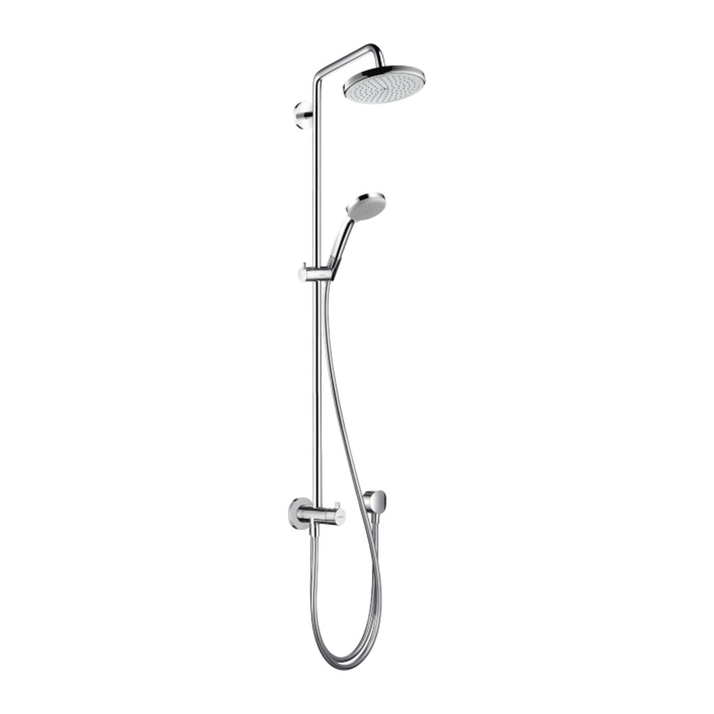 SHOWERPIPE A SPRCHOVÉ PANELY Hansgrohe Croma 220 - Showerpipe Reno 220 mm, otočné sprchové rameno 400 mm, chróm 27224000