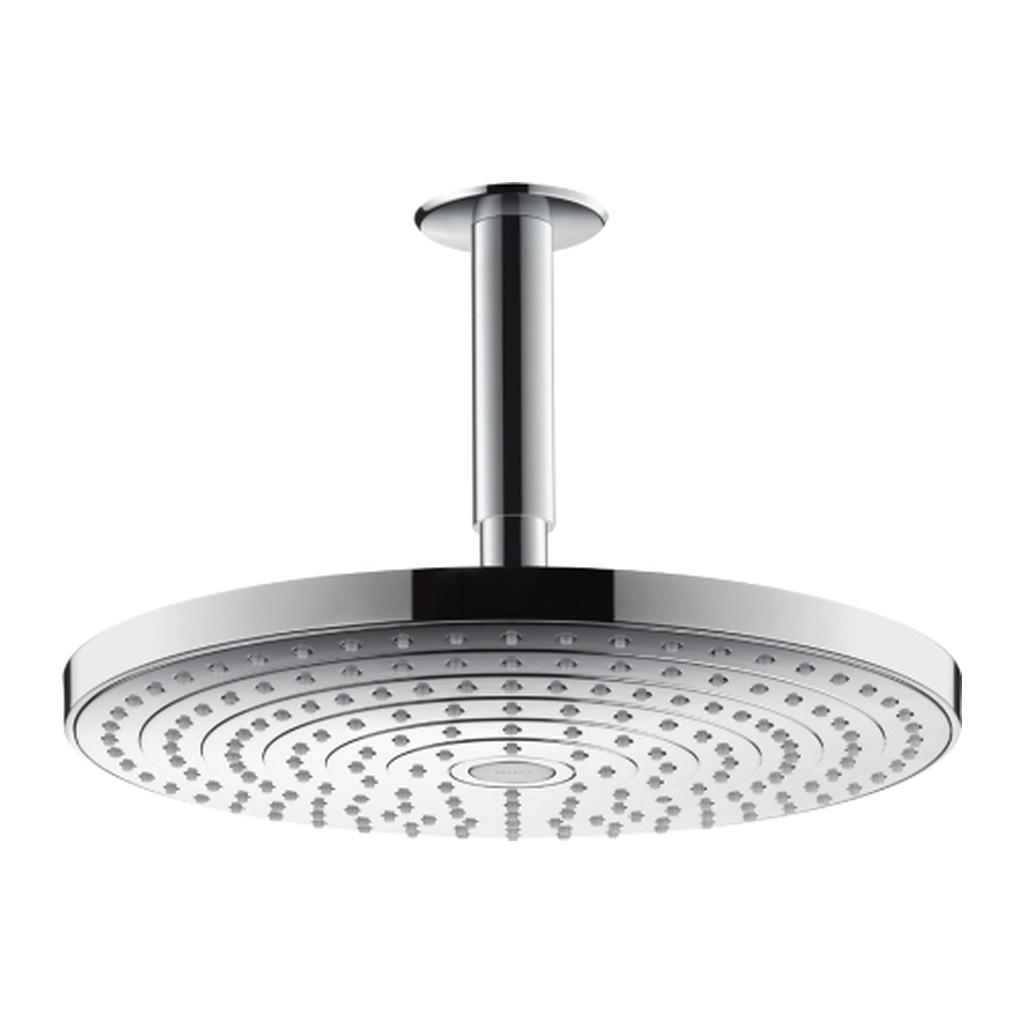 Hansgrohe Raindance Select S - Tanierová Horná Sprcha 300 2jet s prívodom od stropu, biela/chróm 27337400