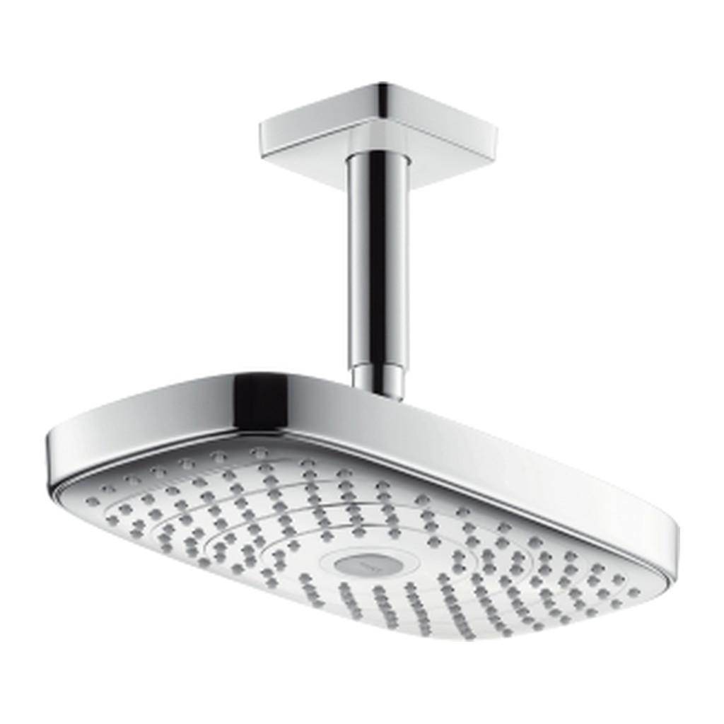 Hansgrohe Raindance Select E - horná sprcha 300 2jet s prívodom od stropu, biela/chróm 27384400