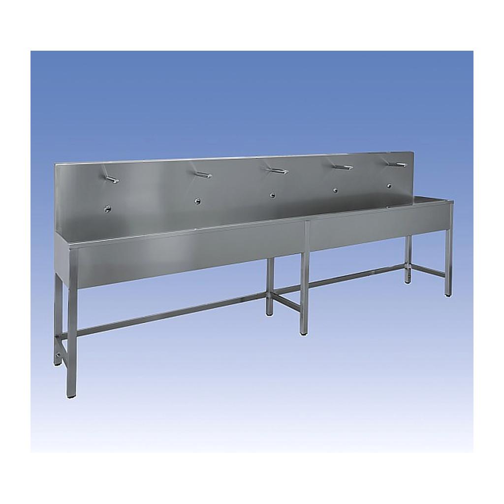 Sanela - Nerezový samonosný žľab, termostatický ventil, 2500 mm, 4 elektroniky, matný, SLUN 52ET
