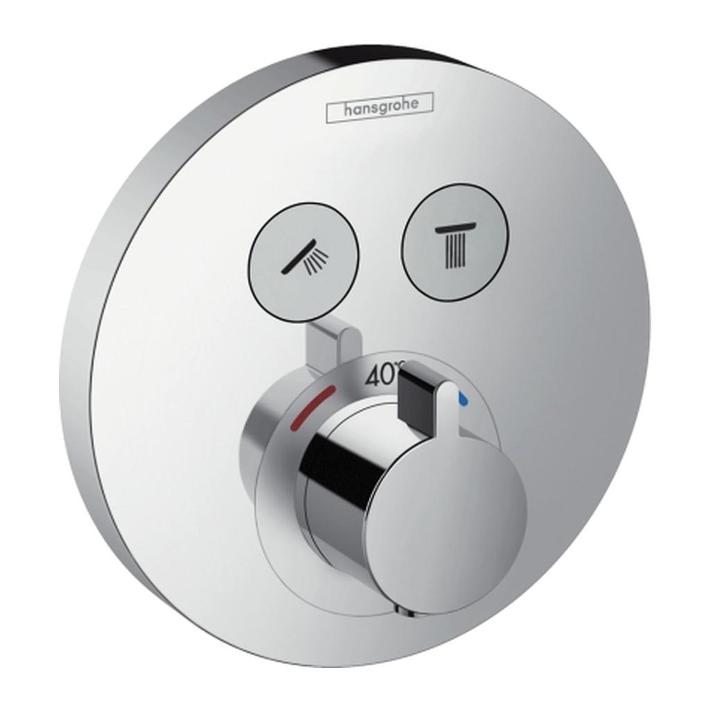 SHOWERSELECT, TERMOSTATICKé BATéRIE POD OMIETKU Hansgrohe ShowerSelect S - Termostat pod omietku pre 2 spotrebiče 15743000