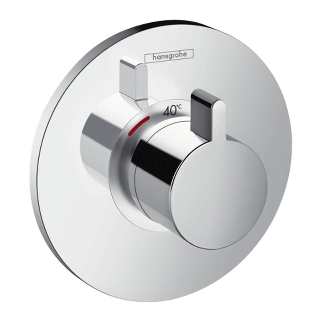 TERMOSTATICKÉ BATÉRIE/VENTILY Hansgrohe Ecostat S - Termostatická batéria Highflow pod omietku, chróm 15756000
