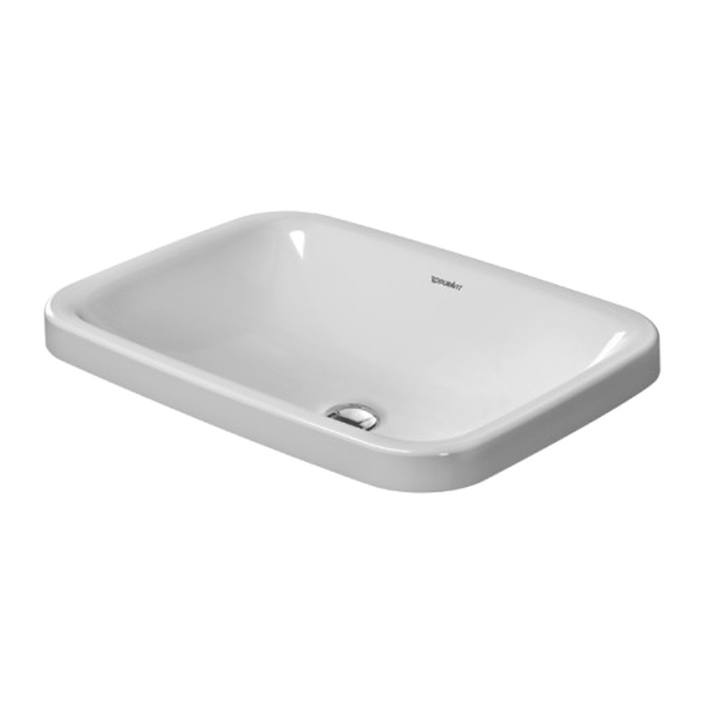 Duravit DuraStyle - Vstavané umývadlo, hladké, 60x43 cm, biele 0372600000