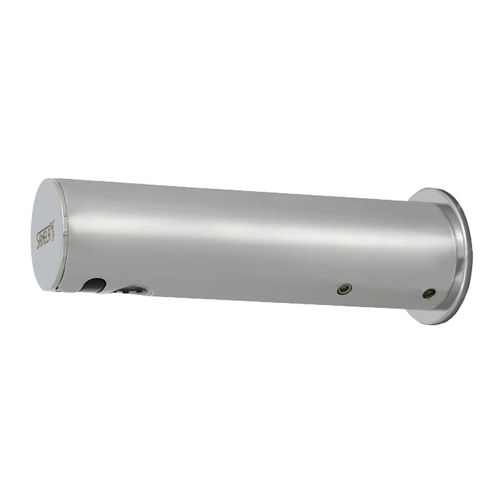 SANELA Automatická chromovaná nástenná batérie na jednu vodu s elektronikou ALS, 6V