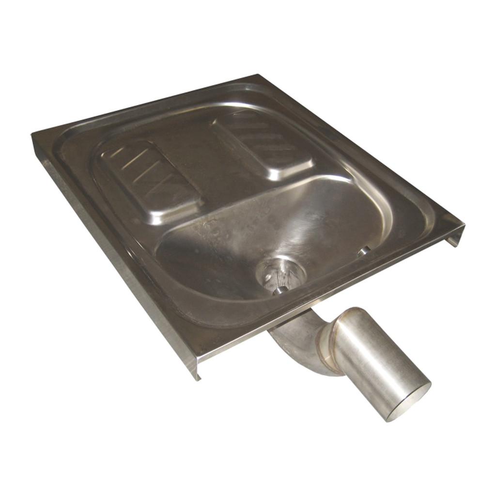NEREZOVé VýROBKY Sanela - Nerezové nášľapné WC k zapusteniu do podlahy, SLWN 07