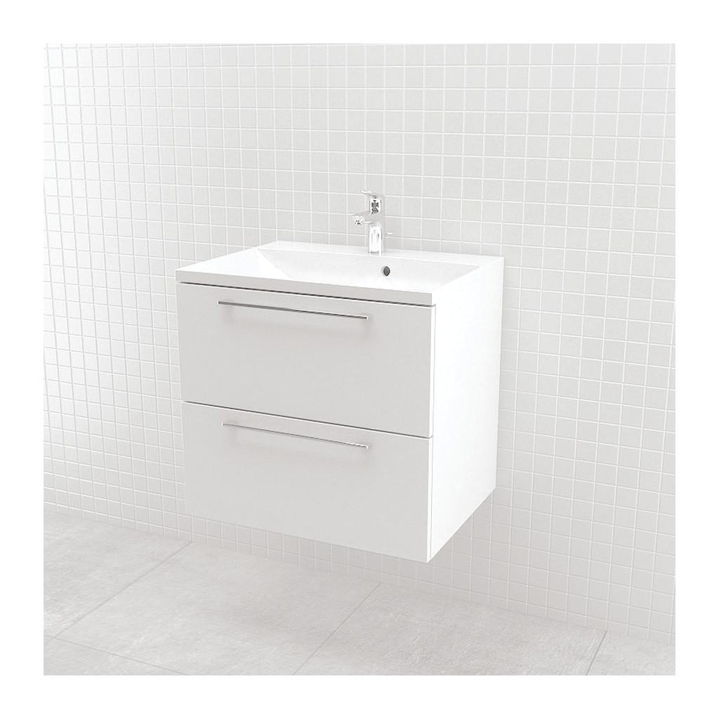 UMýVADLá SO SKRINKOU Vima- Umývadlo so skrinkou, 60x55x46cm, biela lesklá, 303.11