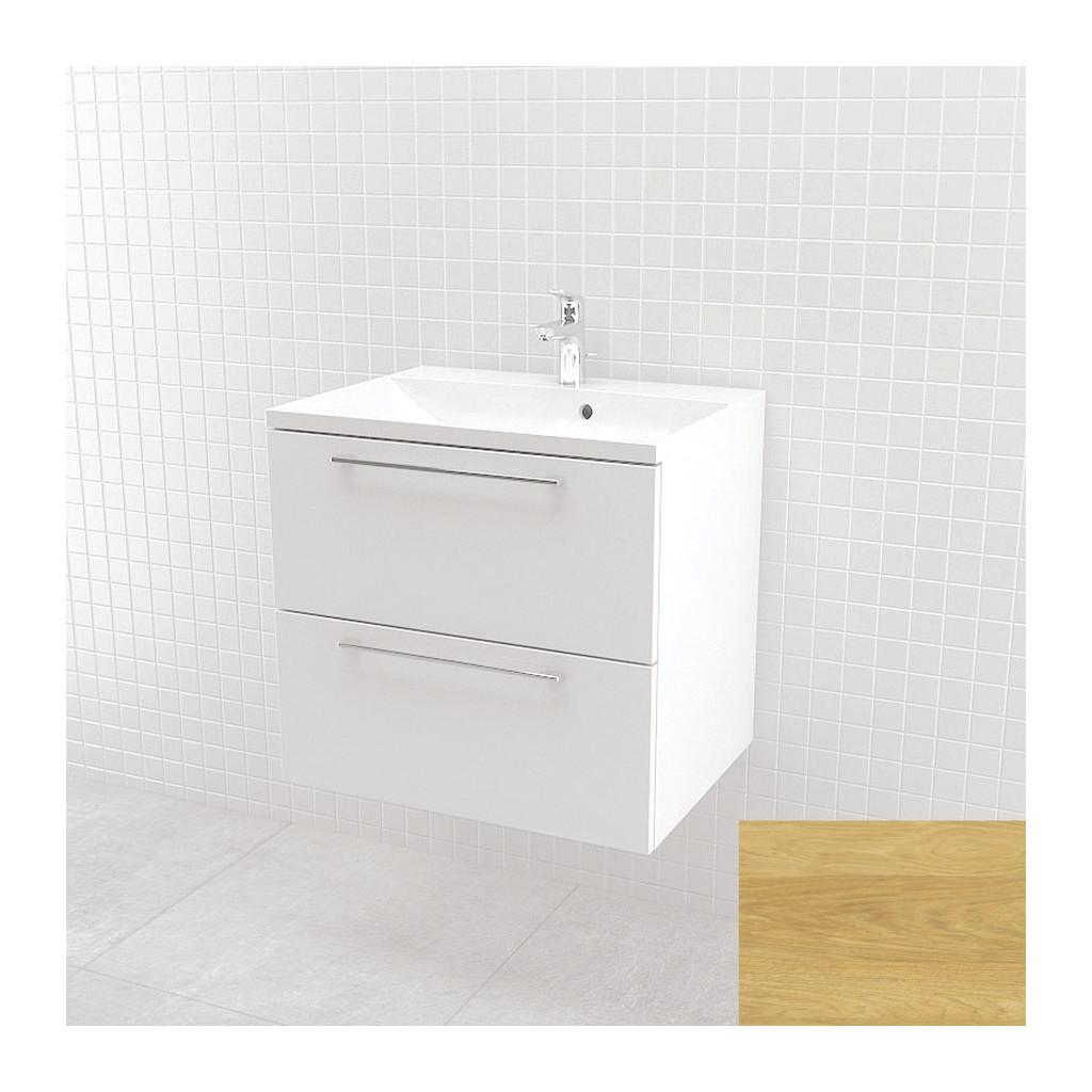UMýVADLá SO SKRINKOU Vima- Umývadlo so skrinkou, 60x55x46cm, dub bledý, 303.12