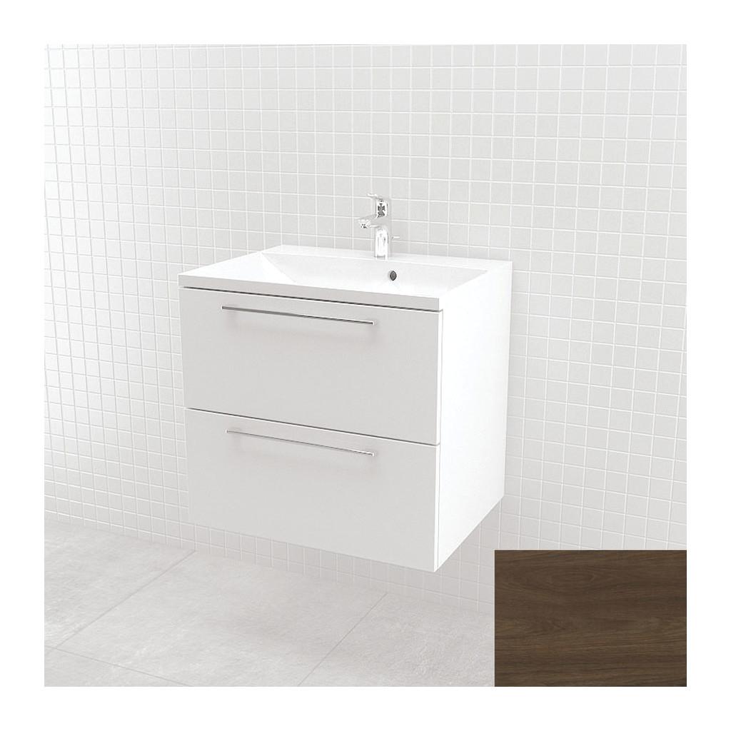 UMýVADLá SO SKRINKOU Vima- Umývadlo so skrinkou, 60x55x46cm, orech tmavý, 303.13