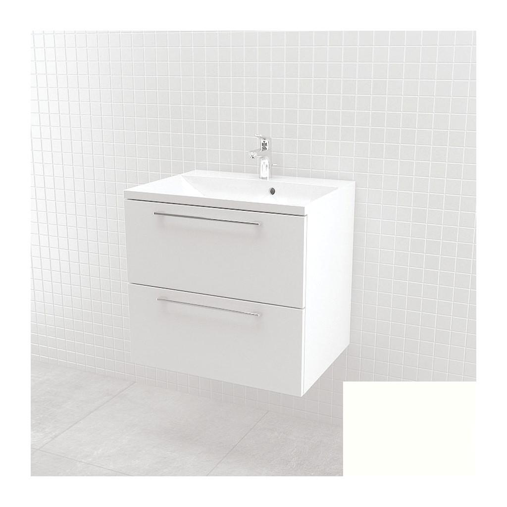 UMýVADLá SO SKRINKOU Vima - umývadlo so skrinkou, 60x55x46cm, biela, 303.14