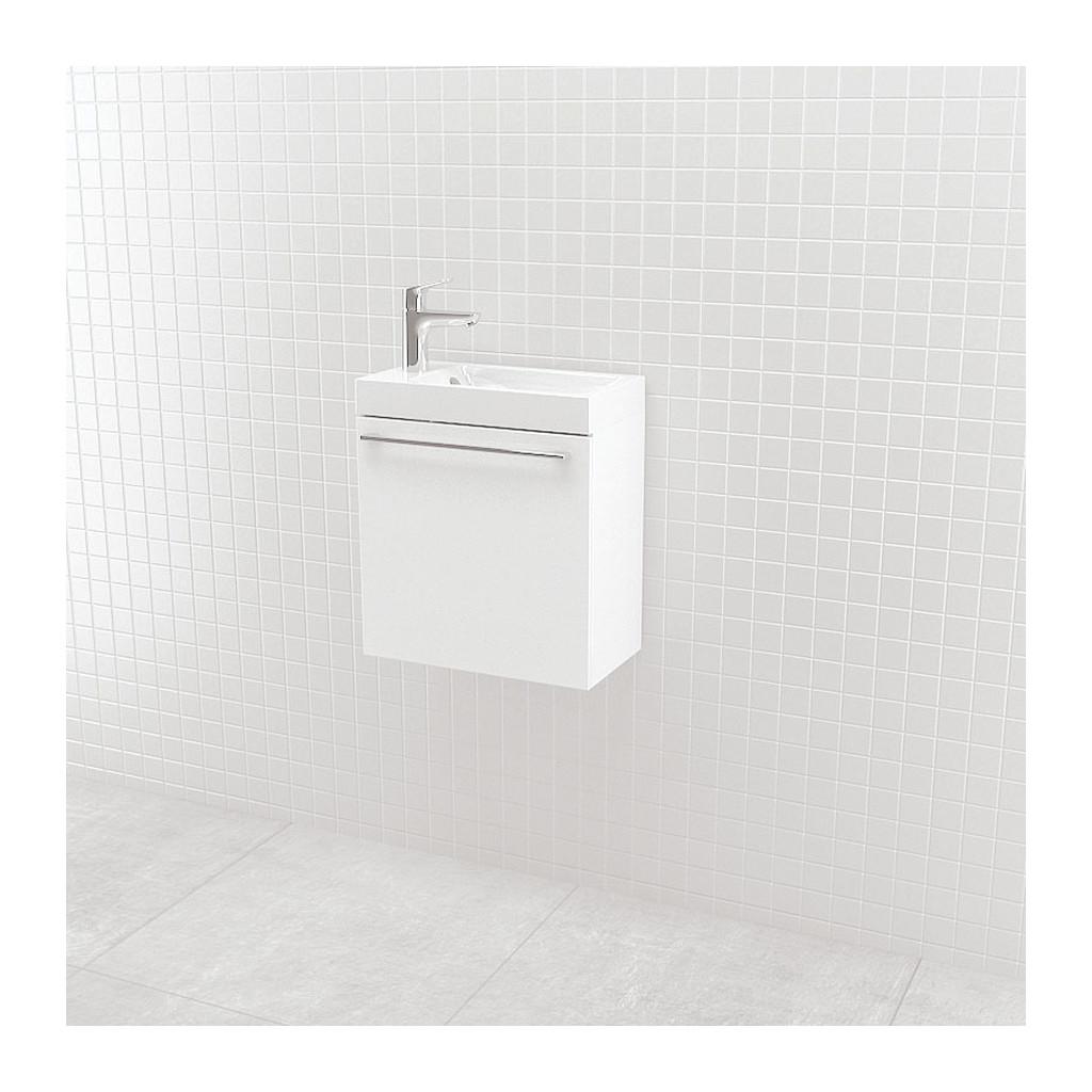 UMýVADLá SO SKRINKOU Vima- Umývadlo so skrinkou, 40x40x22cm, biela lesklá, 304.11