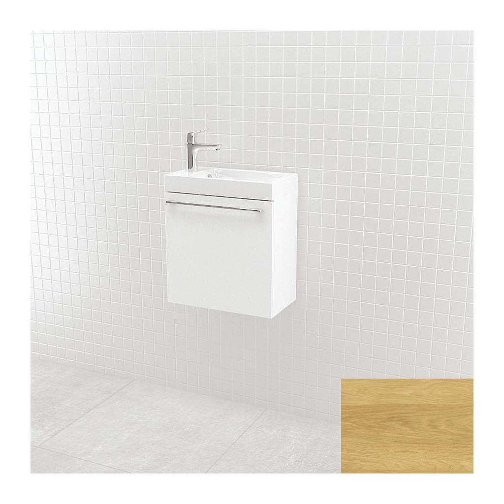 UMýVADLá SO SKRINKOU Vima- Umývadlo so skrinkou, 40x40x22cm, dub bledý, 304.12