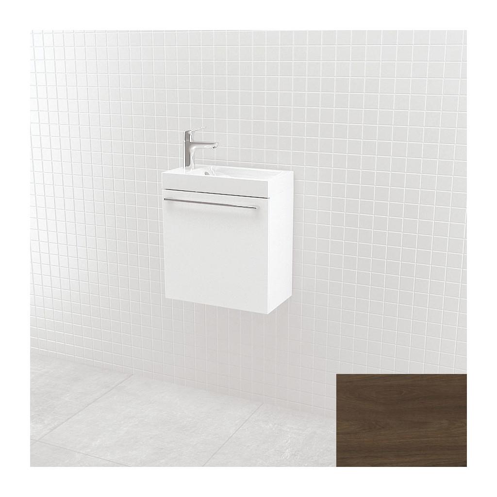 UMýVADLá SO SKRINKOU Vima- Umývadlo so skrinkou, 40x40x22cm, orech tmavý, 304.13