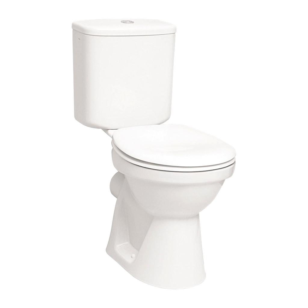 VitrA- WC kombi misa, rovný odpad, nádržka, bez sedátka, VI 5111L003-0075+VI 6656L003-0621