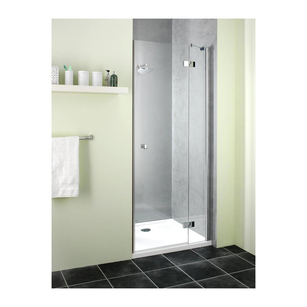 Duscholux Classic CC - otváravé dvere s pevným segmentom do niky, P, pre vaničku 1100 mm, CareTec, DL374.109822.751.062