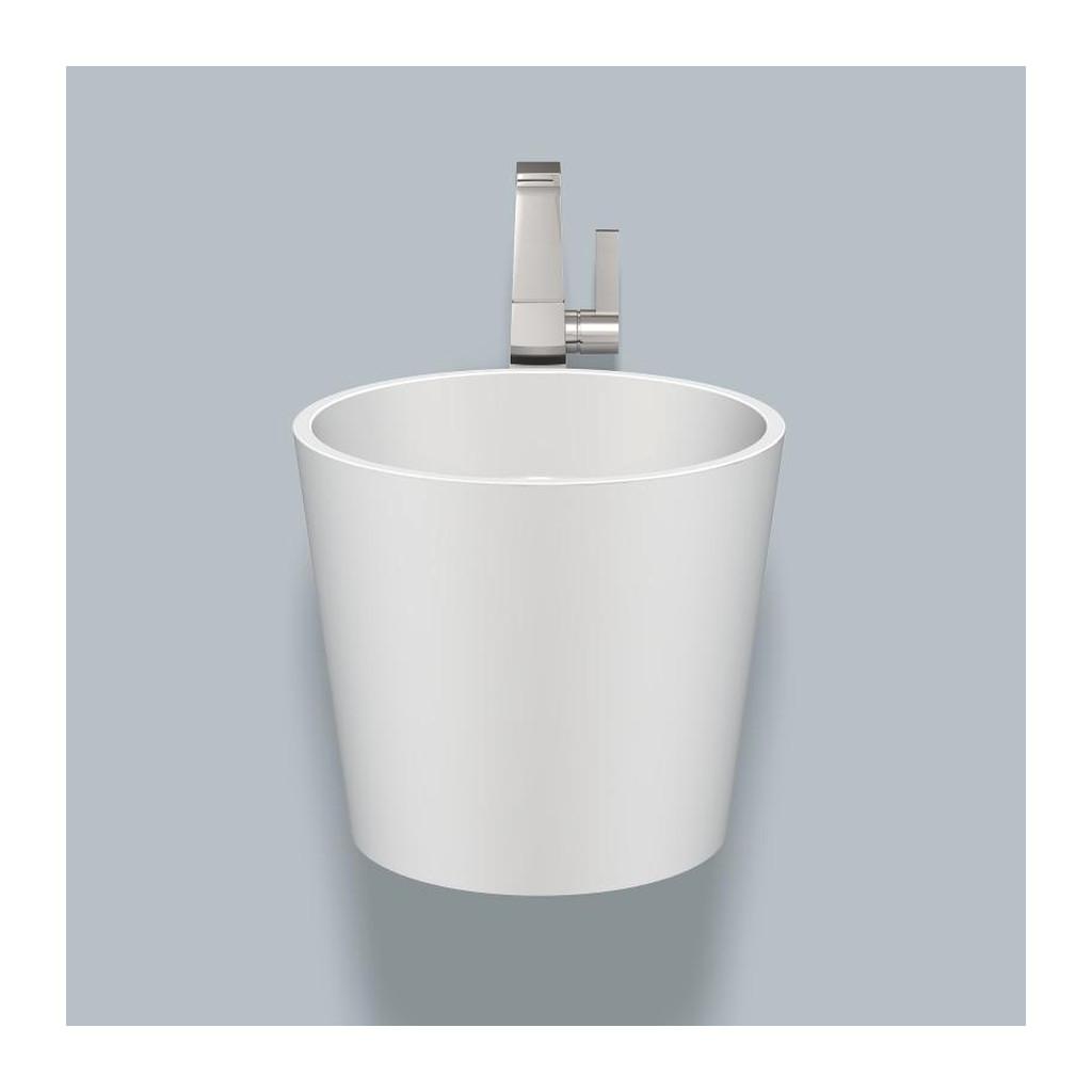 Alape WT.CO400H- smaltované umývadlo bez prepadu, vrátane bielej krytky odtoku, biela 5042800000