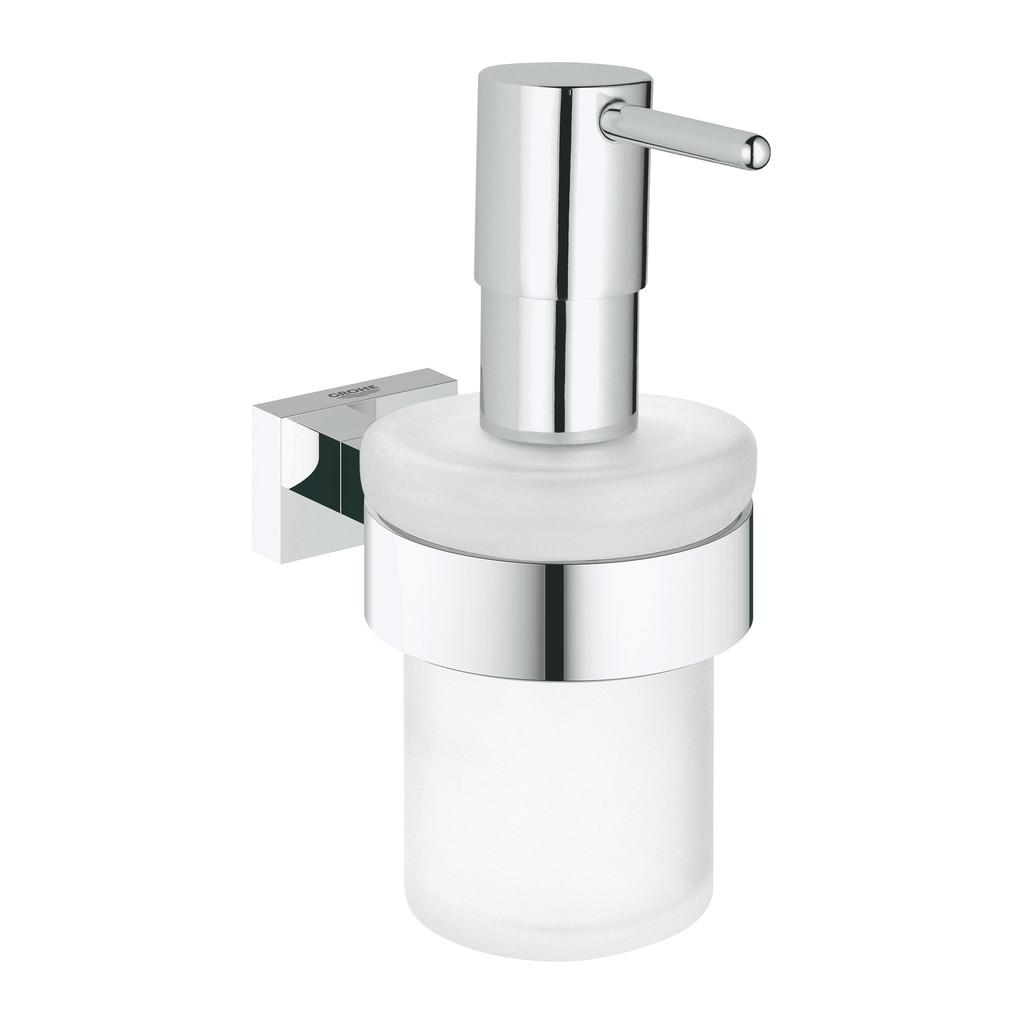 Grohe Essentials Cube - Dávkovač tekutého mydla s držiakom, chróm 40756001