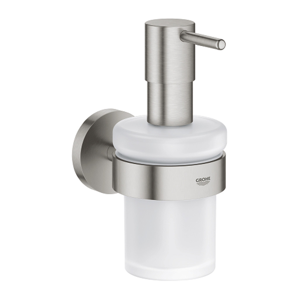 Grohe Essentials - Dávkovač tekutého mydla s držiakom, supersteel 40448DC1