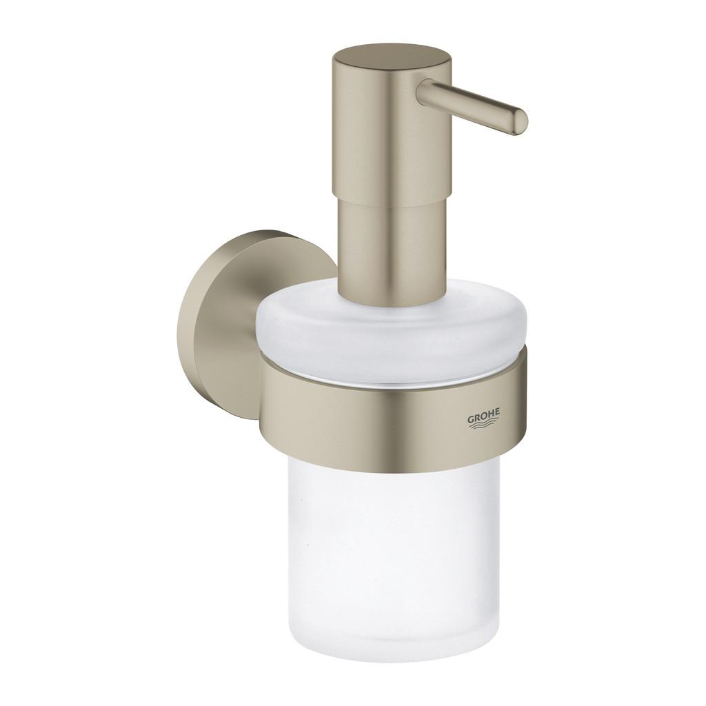 Grohe Essentials - Dávkovač tekutého mydla s držiakom, kartáčovaný nikel 40448EN1