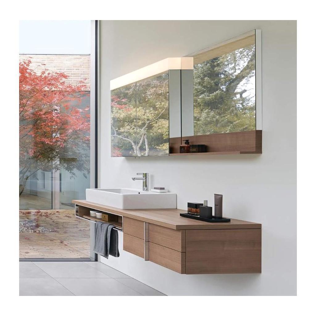 Duravit Vero SET: Doska pod umývadlo 130x55 cm + Set skriniek pod dosku + Umývadlo Vero 70x47 + Zrkadlová skrinka + Zrkadlo, farba dub mediterrane