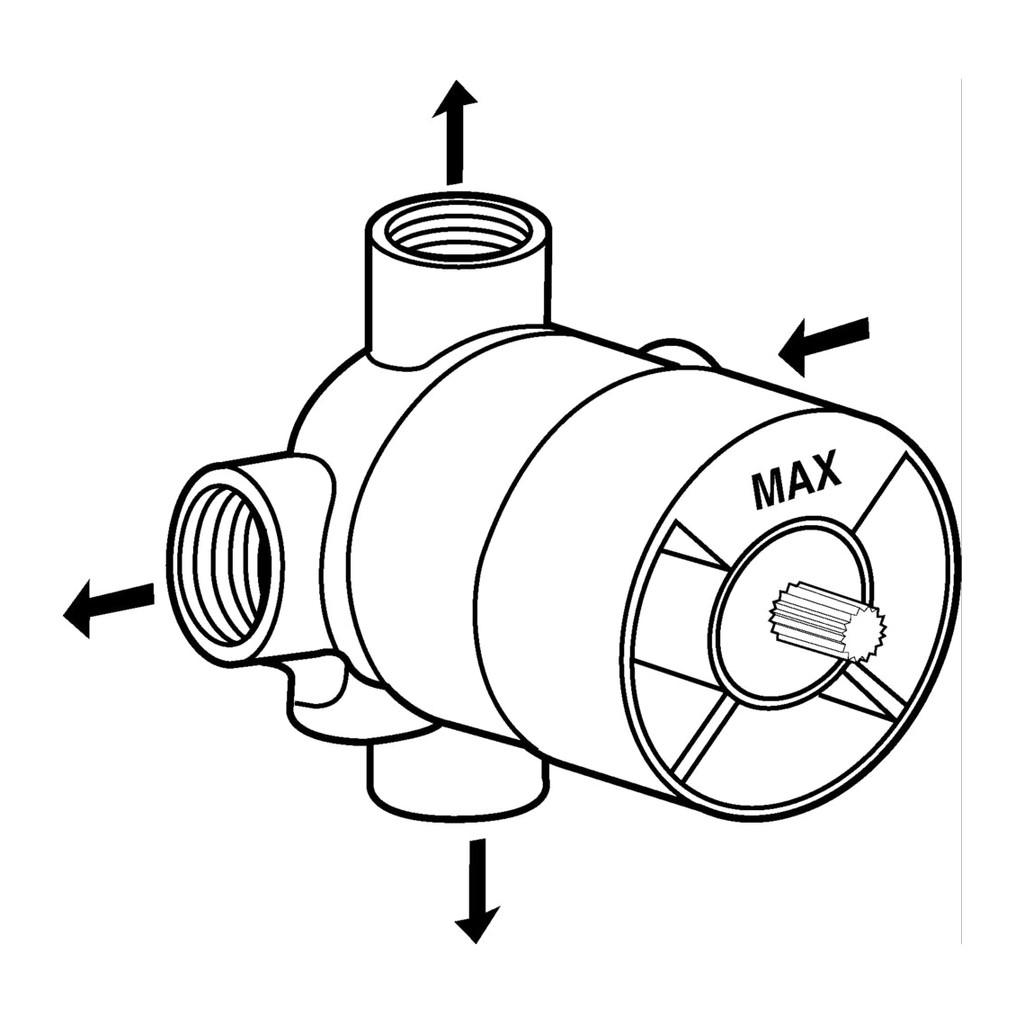 Ideal Standard - Diel 1 pod omietku pre viaccestné ventily 4/3, A2391NU