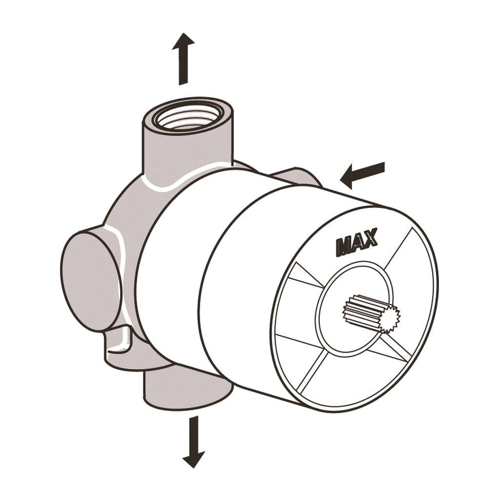 Ideal Standard - Diel 1 pod omietku, pre viaccestné ventily 3/2, A2393NU