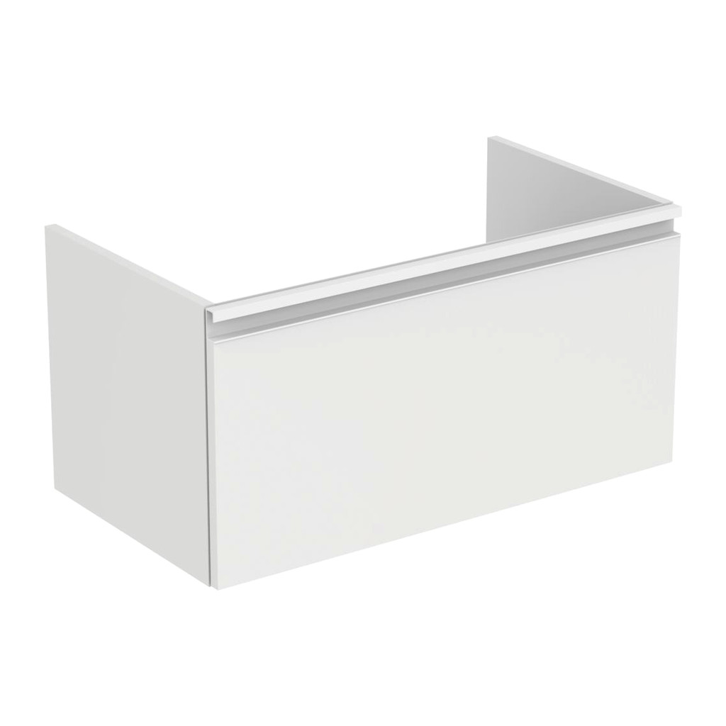Ideal Standard Tesi - Skrinka pod umývadlo 80 cm - 1 zásuvka, Lesklý lak sv. šedý, T0047PH