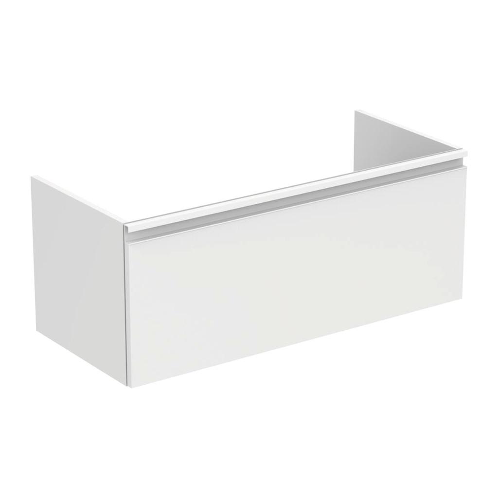 Ideal Standard Tesi - Skrinka pod umývadlo 100 cm - 1 zásuvka, Lesklý lak sv. šedý, T0048PH