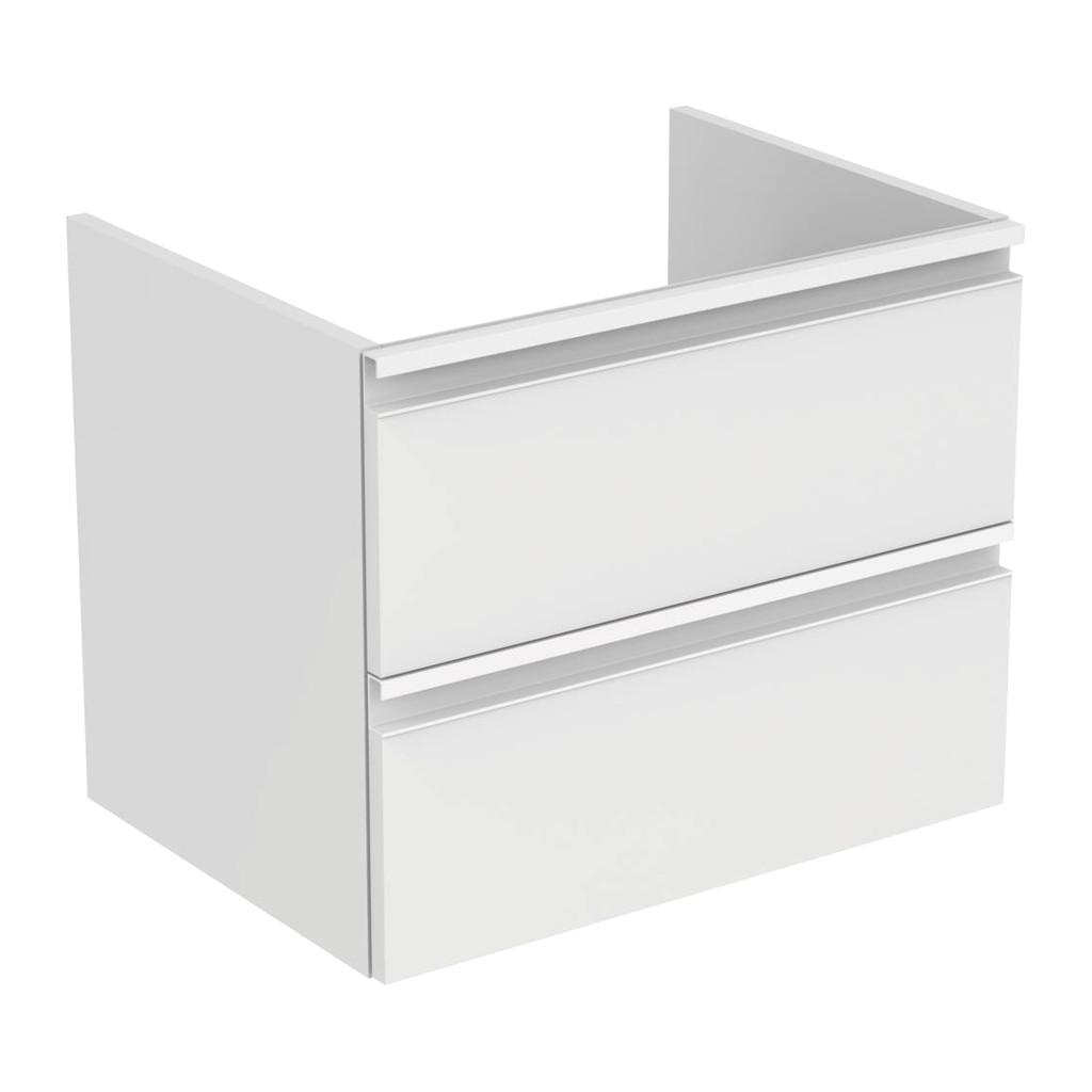 Ideal Standard Tesi - Skrinka pod umývadlo 60 cm - 2 zásuvky, Lesklý lak biely, T0050OV