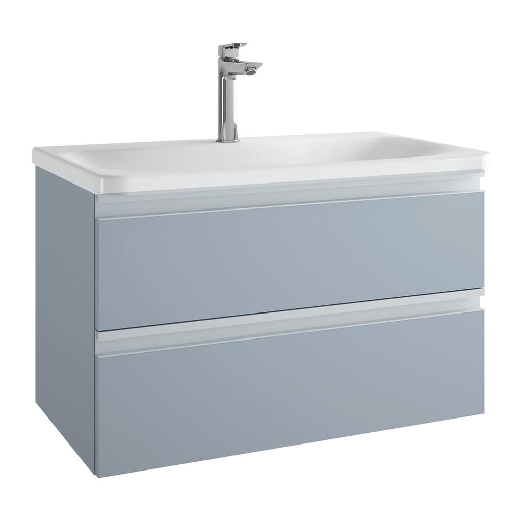 Ideal Standard Tesi - Skrinka pod umývadlo 80 cm - 2 zásuvky, Matný lak sv. modrý, T0051WI