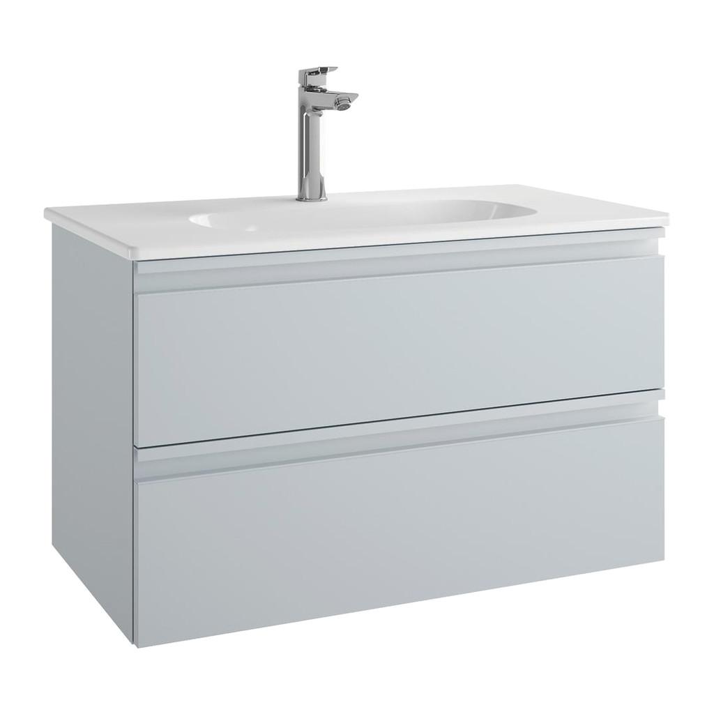 Ideal Standard Tesi - Skrinka pod umývadlo 80 cm - 2 zásuvky, Lesklý lak sv. šedý, T0051PH