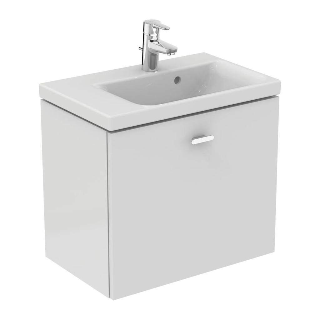 Ideal Standard Connect Space - Skrinka pod umývadlo 60 cm - ľavá, Lesklý lak biely, E0314WG