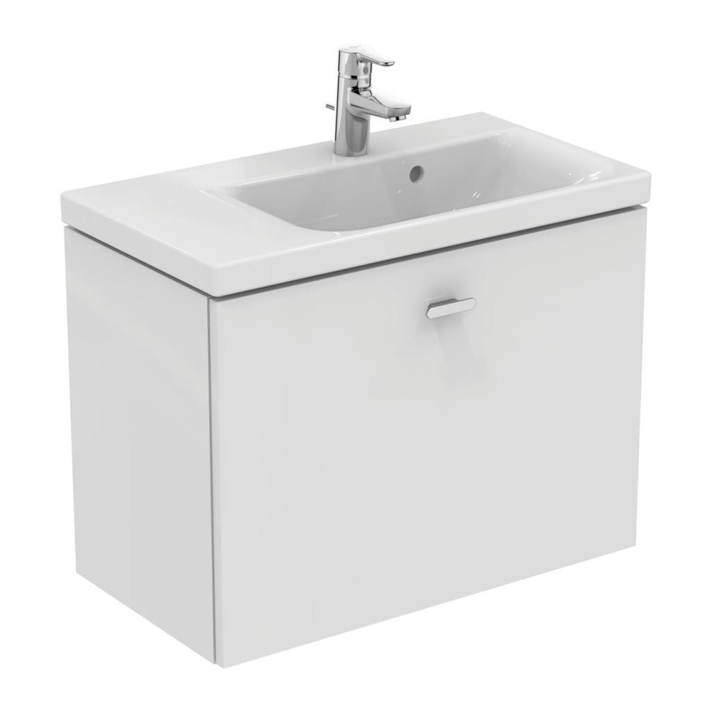 Ideal Standard Connect Space - Skrinka pod umývadlo 70 cm - ľavá, Lesklý lak biely, E0316WG