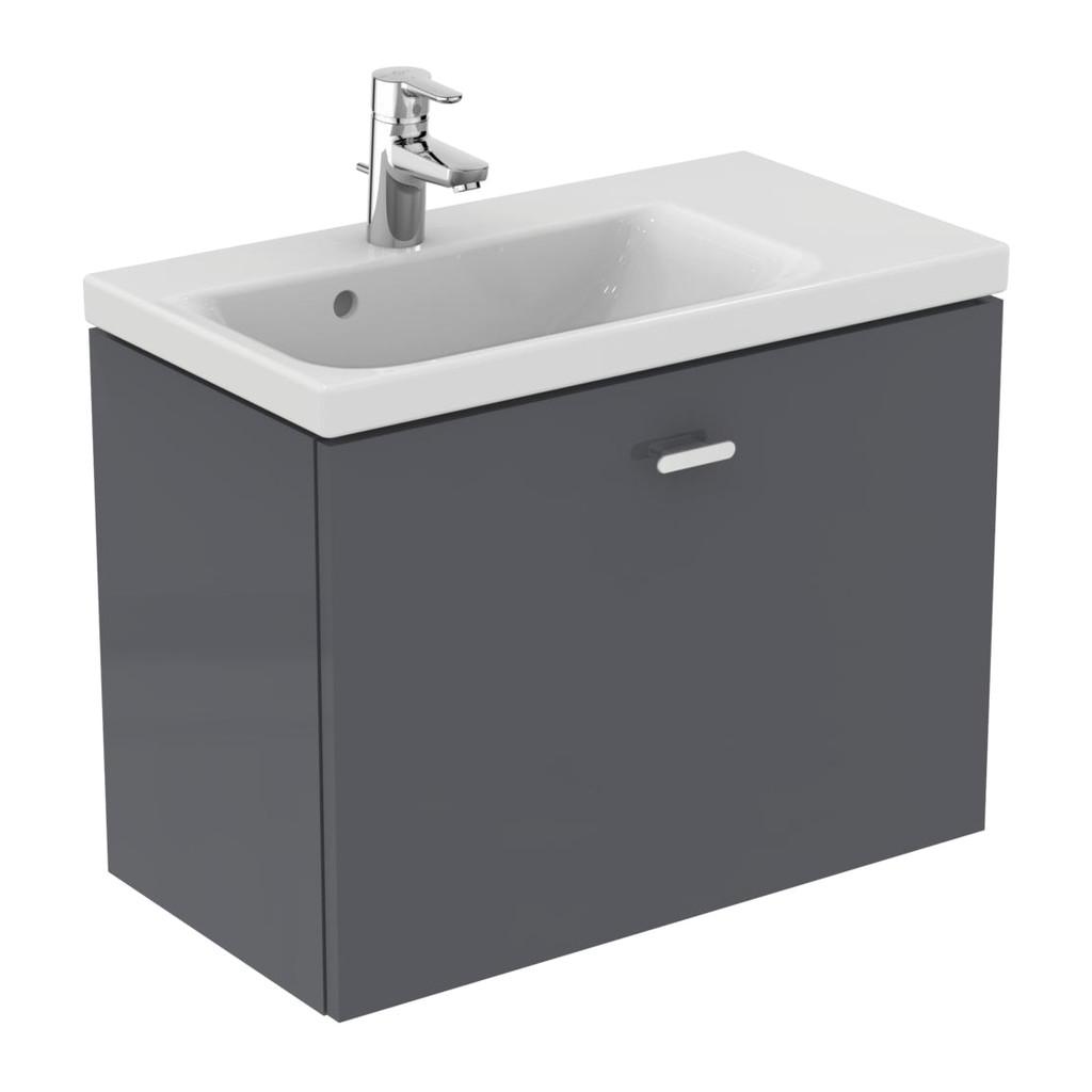 Ideal Standard Connect Space - Skrinka pod umývadlo 70 cm - pravá, Lesklý lak stredne šedý, E0317KR