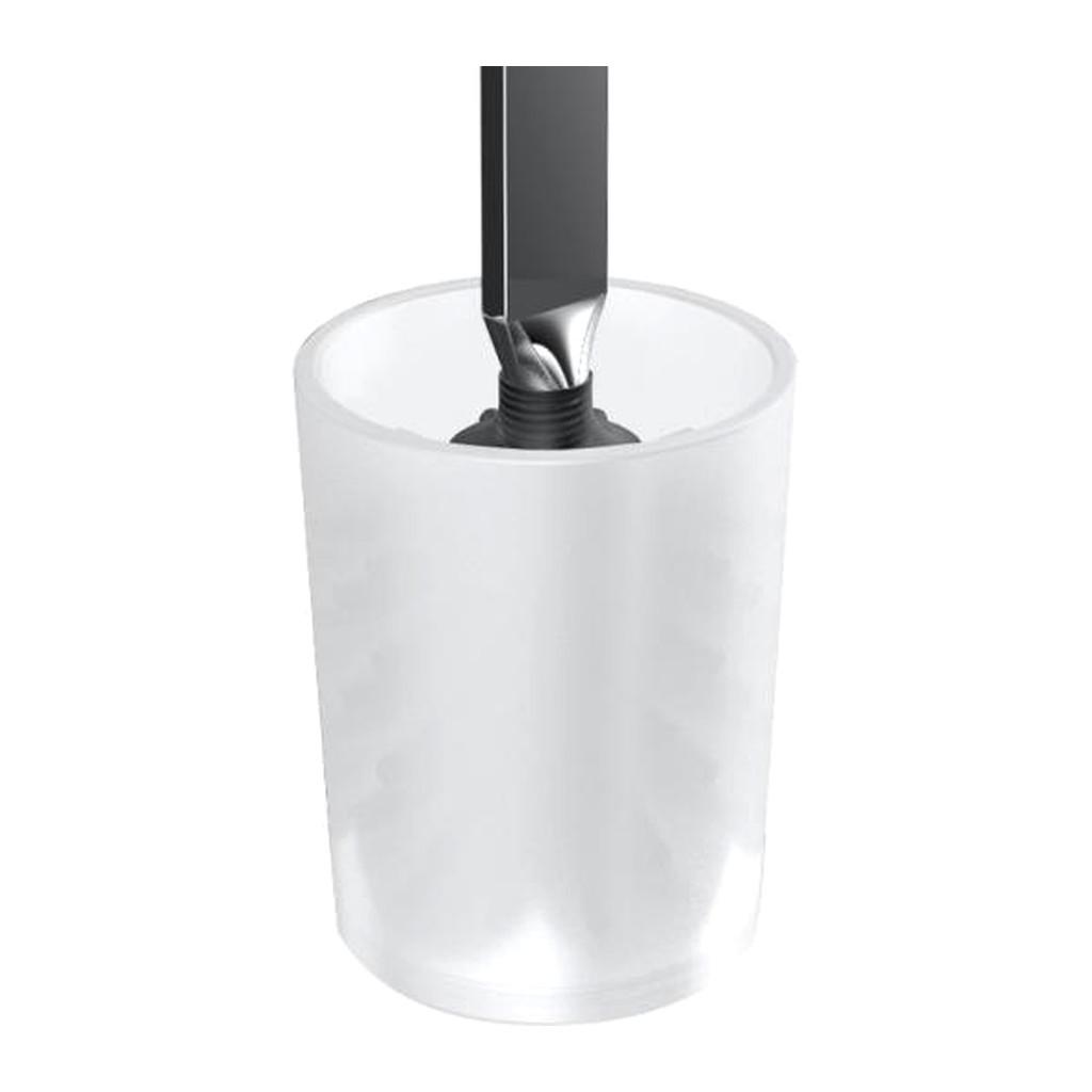 Emco Art - Sklenená nádoba na WC kefu, satin 161500092