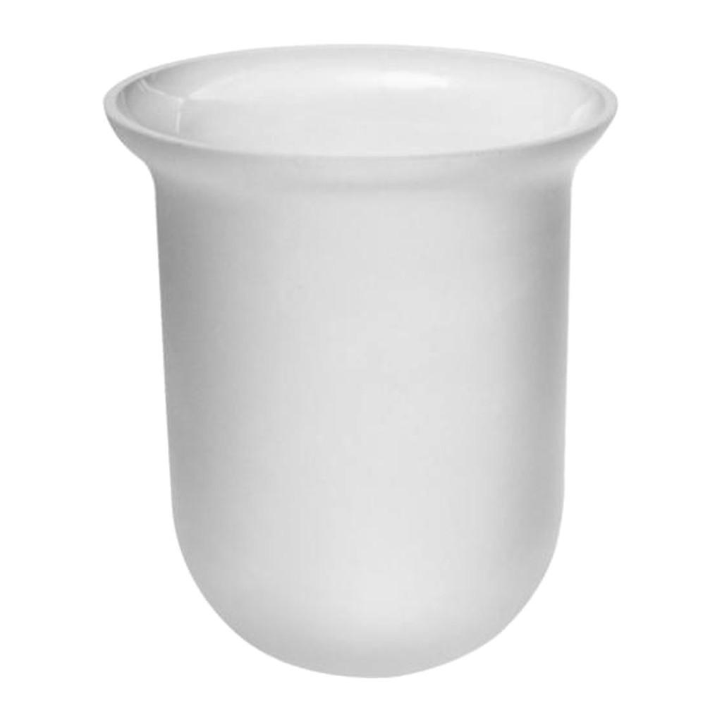 Emco Rondo 2 - Sklenená nadoba na WC kefu, atlas 451500090