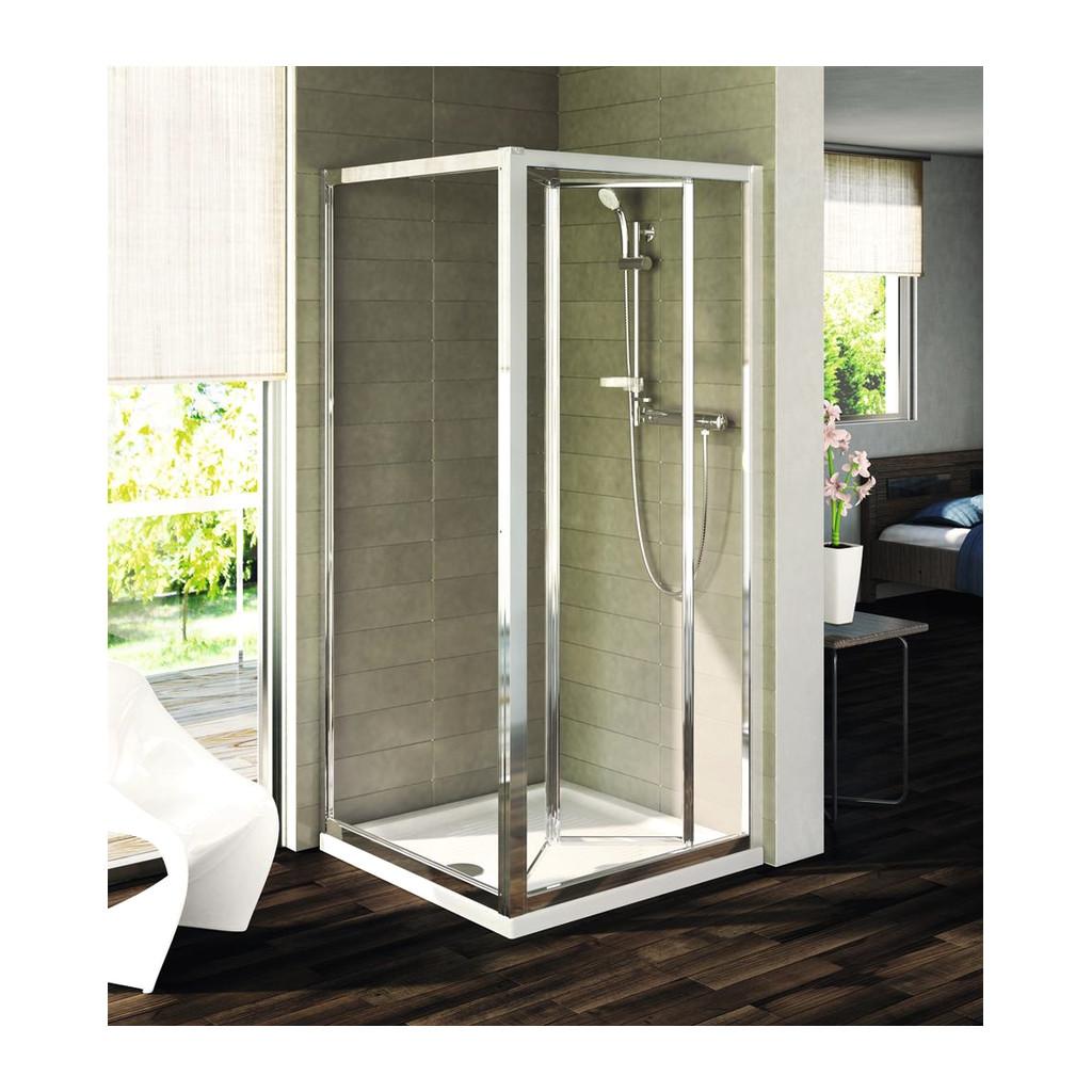 Ideal Standard Connect - Pevná bočná stena 90 x 190 cm, matné sklo, Lesklá strieborná, T9920EO