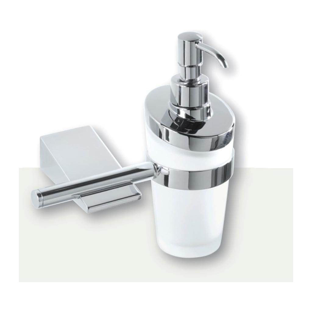 IVAB IDEA - Dávkovač tekutého mydla nástenny, matné sklo IBIDE16