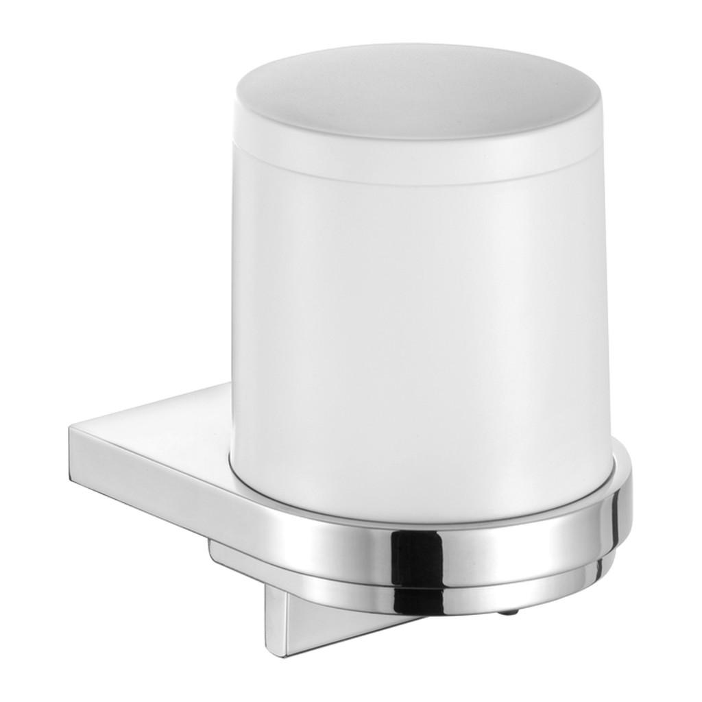 Keuco Collection moll - Nástenný dávkovač tekutého mydla a plastová nádobka matná 180 ml, chróm / biela 12752010100