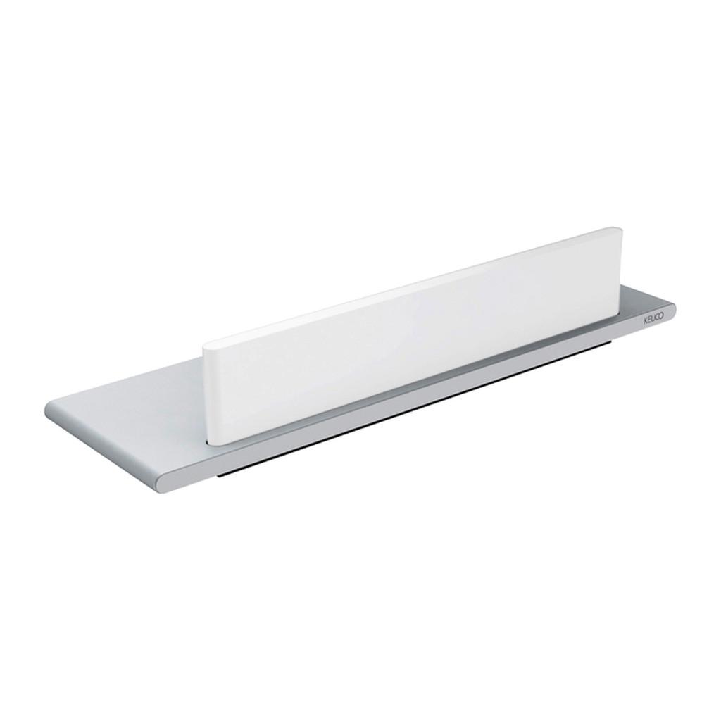 Keuco Edition 400 - Polička do sprchy s integrovanou stierkou na sklo, 328 x 100 mm, strieborne eloxovaný hliník 11559170000