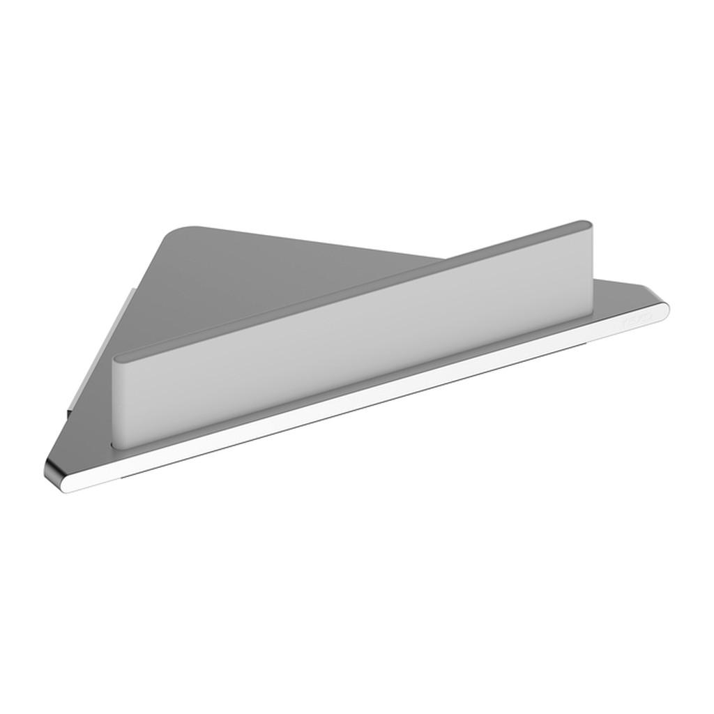 Keuco Edition 400 - Rohová polička do sprchy s integrovanou stierkou na sklo 245 x 242 mm, strieborne eloxovaný hliník 11557170100