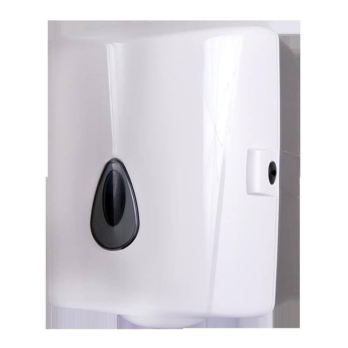 Sanela - Zásobník na papierové utierky v rolách, materiál biely plast ABS