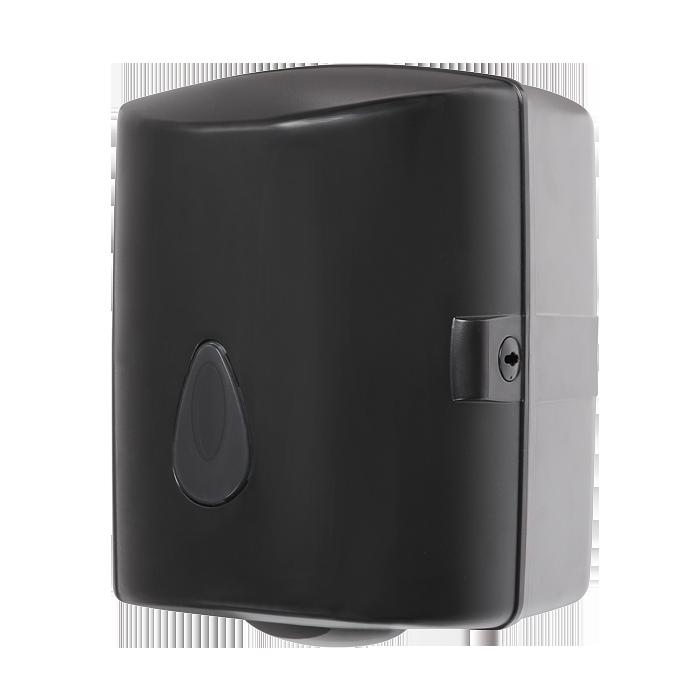 Sanela - Zásobník na papierové utierky v rolách, materiál čierny plast ABS